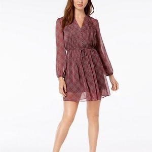 FIT AND FLARE A LINE LONG SLEEVE DRESS